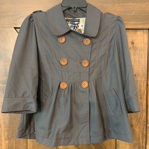 Miss Me Collection Grey 3/4 Sleeve Jacket Large